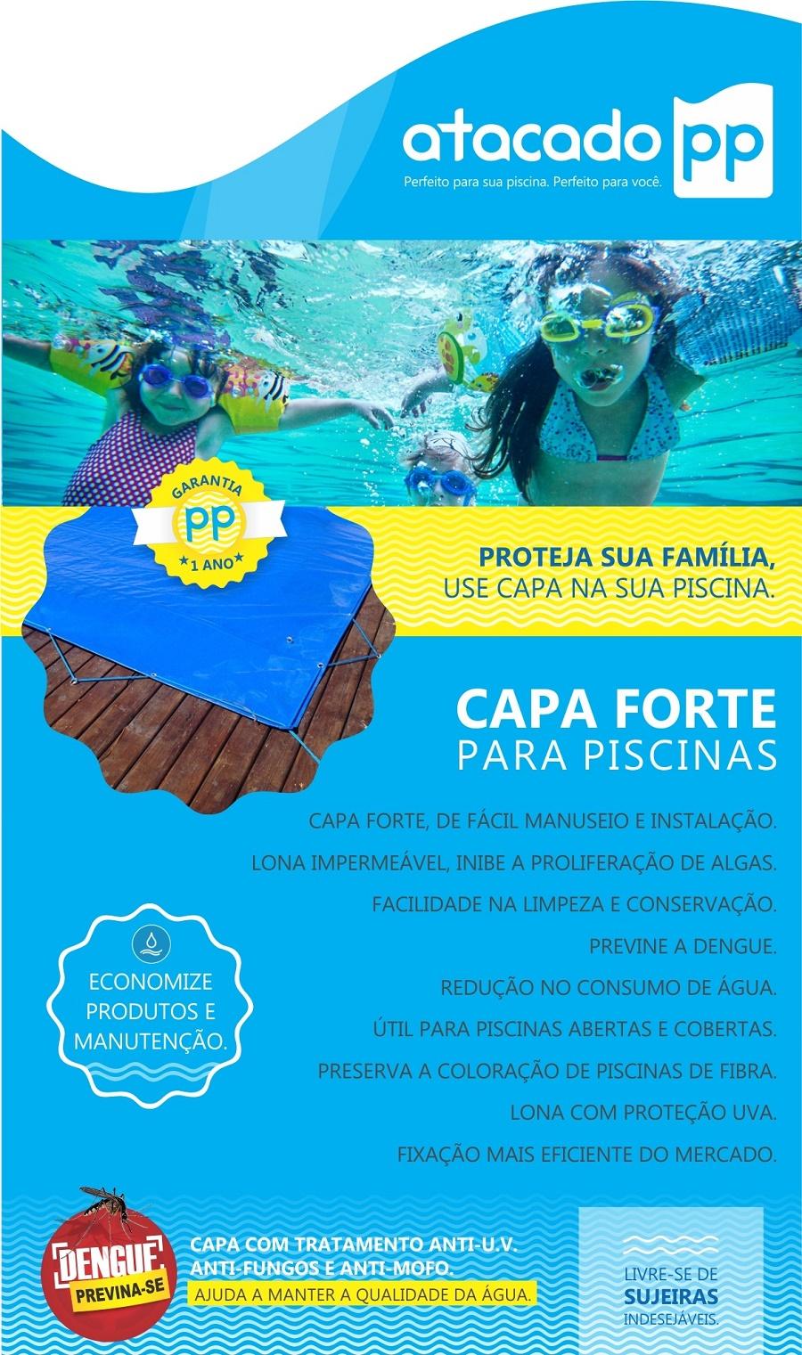 Capa para piscina 9 5x4 lona leve fabrica de capas para for Piscina 5x4