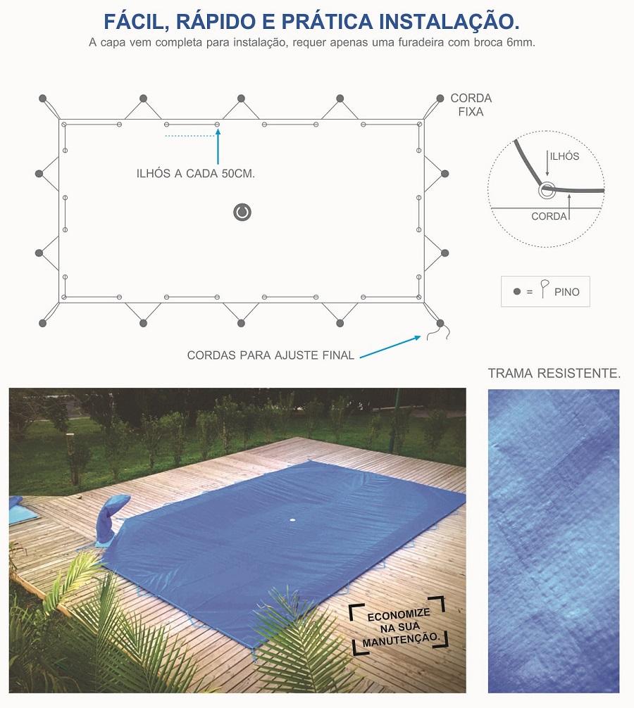 instalar capa de piscina